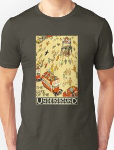 Lure of the Underground - Vintage London Poster Unisex T-Shirt