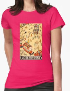 Lure of the Underground - Vintage London Poster Womens Fitted T-Shirt