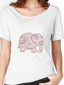 Pink Mandala Elephant Women's Relaxed Fit T-Shirt