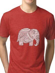Pink Mandala Elephant Tri-blend T-Shirt