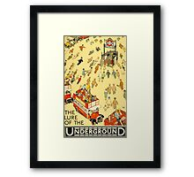 Lure of the Underground - Vintage London Poster Framed Print