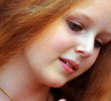 Golden Hair Sticker
