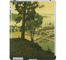 New England Americas Historic Summerland Vintage Travel Poster iPad Case/Skin