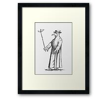 Plague Doctor (for the morbidly inclined) Framed Print