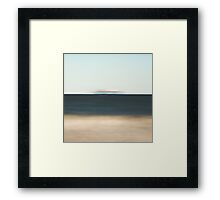 The ship is departing Framed Print