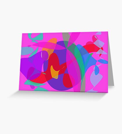 Unique Psychedelic Pink Design Greeting Card
