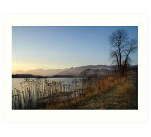 Winters Eve Fraser River Art Print