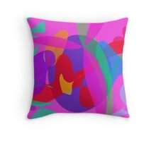 Unique Psychedelic Pink Design Throw Pillow