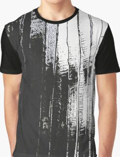 Grunge Black & White Pattern Graphic T-Shirt