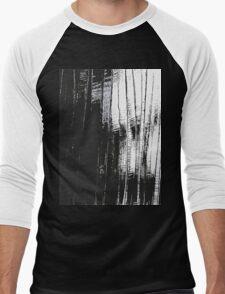 Grunge Black & White Pattern Men's Baseball ¾ T-Shirt