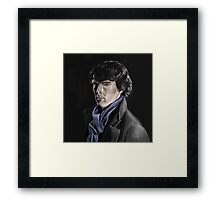 Benedict Cumberbatch as Sherlock Framed Print