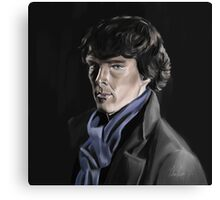 Benedict Cumberbatch as Sherlock Canvas Print