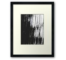 Grunge Black & White Pattern Framed Print