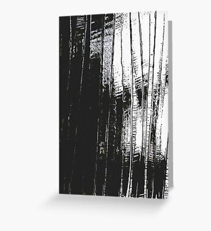 Grunge Black & White Pattern Greeting Card
