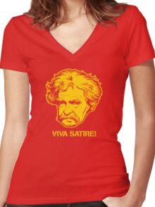 Viva Satire Mark Twain Shirt Women's Fitted V-Neck T-Shirt