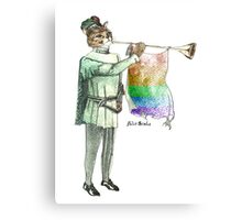 Rainbow Cat Canvas Print