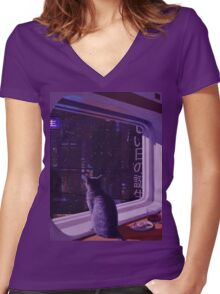 Vapormow Women's Fitted V-Neck T-Shirt