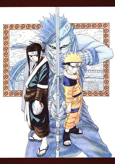 Naruto, Haku, and Zabuza by SubaruYume