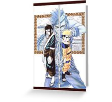 Naruto, Haku, and Zabuza Greeting Card