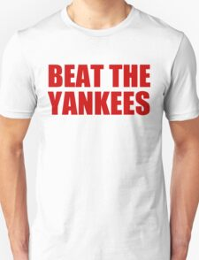 Boston Red Sox - BEAT THE YANKEES - Red Text T-Shirt
