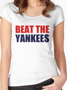 Boston Red Sox - BEAT THE YANKEES Women's Fitted Scoop T-Shirt