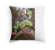 Hayden the Pixie tree spirit Throw Pillow