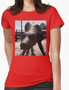 Famine Dog Womens Fitted T-Shirt