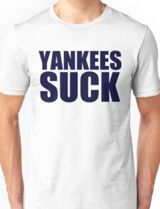 Boston Red Sox - YANKEES SUCK - Blue Text Unisex T-Shirt