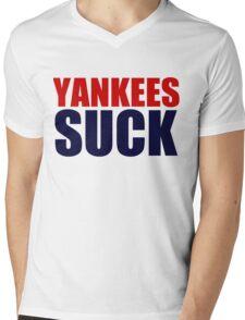 Boston Red Sox - YANKEES SUCK Mens V-Neck T-Shirt