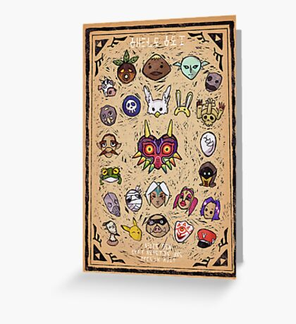 Majora's Masks Greeting Card