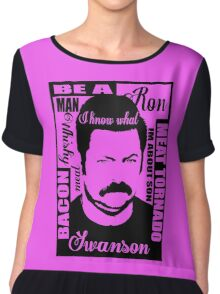 Ron Swanson parks and rec  Chiffon Top