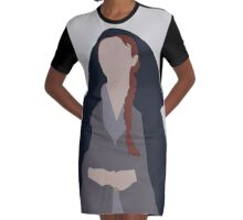 Porcelain, Ivory, Steel. Graphic T-Shirt Dress