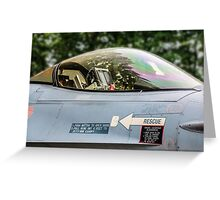 F16 Falcon Office Greeting Card
