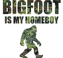 Distressed Bigfoot Is My Homeboy Camo by kwg2200