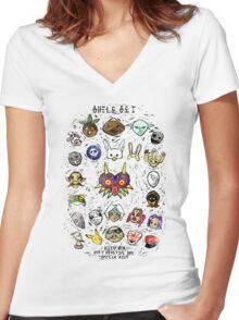 Majora's Masks Women's Fitted V-Neck T-Shirt