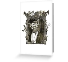 Mr. Sphinx with Frame Greeting Card