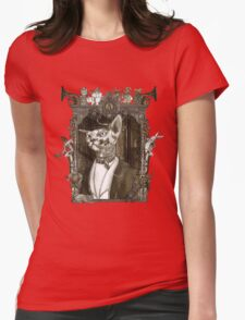 Mr. Sphinx with Frame Womens Fitted T-Shirt