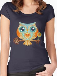Owl's Summer Love Letters Women's Fitted Scoop T-Shirt