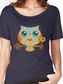 Owl's Summer Love Letters Women's Relaxed Fit T-Shirt