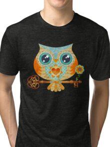 Owl's Summer Love Letters Tri-blend T-Shirt
