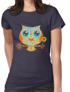 Owl's Summer Love Letters Womens Fitted T-Shirt