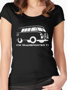 VW Transporter T1 Women's Fitted Scoop T-Shirt