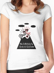 When I'm With My Love Bug Women's Fitted Scoop T-Shirt