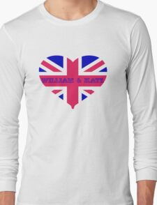 William & Kate Crown T shirt Long Sleeve T-Shirt