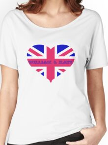 William & Kate Crown T shirt Women's Relaxed Fit T-Shirt