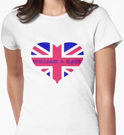 William & Kate Crown T shirt Womens Fitted T-Shirt