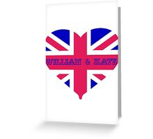 William & Kate Crown T shirt Greeting Card