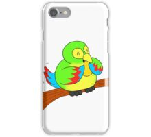 A Green Parrot and a Mango iPhone Case/Skin