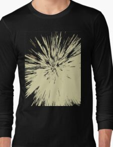 Abstract Explosion Line Art Pattern Long Sleeve T-Shirt