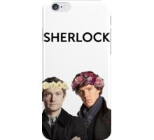 BBC Sherlock John And Sherlock Flower Crown iPhone Case/Skin